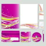 Unternehmensidentitä5sschablone mit Farbelementen Vector Firmengeschäftsart für brandbook, Bericht und Richtlinie Briefpapier tem Stockfoto
