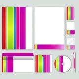 Unternehmensidentitä5sschablone mit Farbelementen Vector Firmengeschäftsart für brandbook, Bericht und Richtlinie Briefpapier tem Lizenzfreie Stockfotografie
