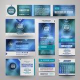 Unternehmensidentitä5sschablonen des Vektors Lizenzfreie Stockbilder