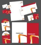 Unternehmensidentitä5sschablone Lizenzfreies Stockfoto