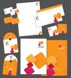 Unternehmensidentitä5sschablone Lizenzfreie Stockbilder