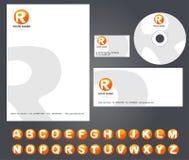 Unternehmensidentitä5sschablone mit Alphabet Stockfotografie