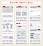 Unternehmensinternetseite-Navigations-Karte, Struktur-Prototyp Fram Lizenzfreie Stockbilder