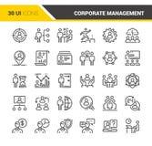 Unternehmensleitungs-Ikonen Lizenzfreie Stockfotografie