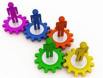 Unternehmensmaschinerieteamwork Lizenzfreie Stockfotos