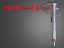 Unternehmensplan Stockbild