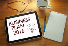 Unternehmensplan 2016 Stockbild