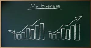 Unternehmensplan auf Schoolboard im Vektor Lizenzfreie Stockfotografie
