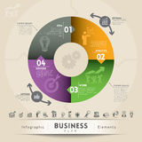 Unternehmensplan-Konzept-Grafik-Element Stockfotografie