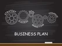 Unternehmensplan mit Gangkonzept auf Tafel Auch im corel abgehobenen Betrag vektor abbildung