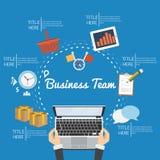 Unternehmensplan und kreatives Team Stockfoto