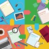 Unternehmensplan und kreatives Team Lizenzfreie Stockbilder