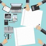 Unternehmensplan und kreatives Team Lizenzfreies Stockfoto