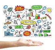 Unternehmensplankonzept auf einer Tafel Stockbilder