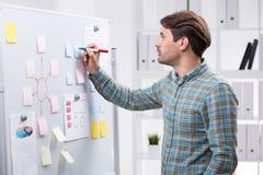 Unternehmensplanung in der Aktion Lizenzfreies Stockbild