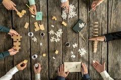 Unternehmensplanung und Brainstormingkonzept Stockfoto