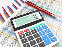 Unternehmensplanung und Buchhaltung Stockfotografie