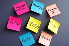 Unternehmensplanung und erfolgreiche Strategie der Firma Lizenzfreie Stockfotos
