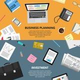 Unternehmensplanung und Investitionskonzept Stockfotografie