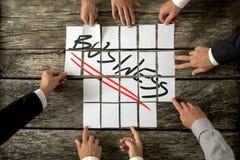 Unternehmensplanung und Strategiekonzept Lizenzfreie Stockfotografie