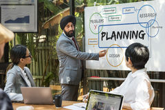 Unternehmensplanungs-Prozessdiagramm-Diagramm Konzept lizenzfreie stockfotografie