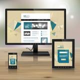Unternehmensschablonendesign mit Anwendungen Lizenzfreie Stockfotos