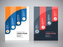 Unternehmenssymbole der Broschürenabdeckung lizenzfreie abbildung