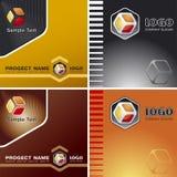Unternehmensvektorschablonen-Hintergrund mit Zeichen Lizenzfreie Stockfotos