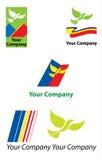 Unternehmenszeichenschablonen Stockfoto