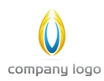 Unternehmenszeichenvektor - Flamme Stockfoto