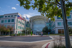 Unternehmenszentrale von Apple, Cupertino, Kalifornien Stockfotografie