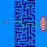 Unternehmensziel-Strategie lizenzfreie abbildung