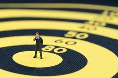 Unternehmensziel, Ziel und Leistung oder Führungskonzept, Minute Stockfotografie