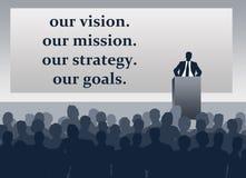 Unternehmenszielauftrag-Strategieziele lizenzfreie abbildung