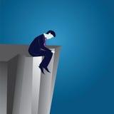 Unternehmenszusammenbruch-Geschäftsmann Concept Lizenzfreie Stockfotos