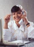 Unternehmer der neunziger Jahre Indien stockfotografie