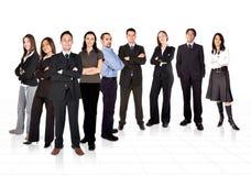 Unternehmer und sein Geschäftsteam Stockfoto