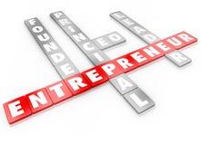 Unternehmer-Word Letter Tiles-Gründer CEO Business Leader Lizenzfreie Stockfotos