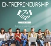 Unternehmergeist-Kapitalgesellschafts-Händler-Konzept lizenzfreie stockfotografie