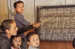 Unterricht in Nepal Stockbild