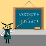 Unterrichten des Alphabetes Stockbild