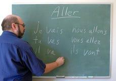 Unterrichtende Franzosen Stockbilder