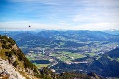 从Untersberg的全景 库存图片