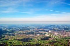 从Untersberg的全景 免版税库存图片