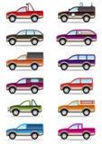 Unterschiedlich weg weg der Straße und VON DEN SUV Autos stock abbildung
