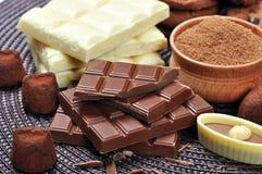 Unterschiedliche Art der Schokolade Lizenzfreie Stockbilder