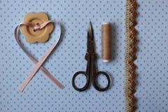 Unterschiedliche Art des Materials für kreative Arbeit Lizenzfreie Stockfotos