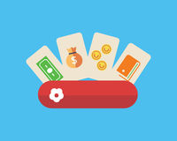 Unterschiedliche Arten der Zahlung online Lizenzfreies Stockbild
