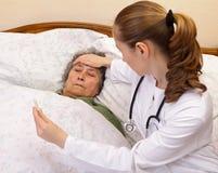 Körpertemperaturprüfungs-Kontrolle Stockfoto