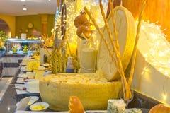 Unterschiedliche Arten und Art von Käse Nahaufnahme Stockfotografie